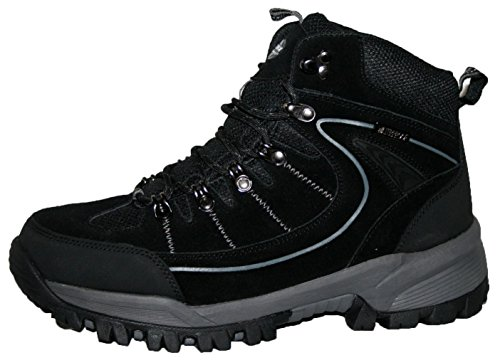 Rae Premium Botas de Trekking para Hombre, Impermeable, Color Negro, Talla 45