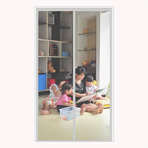 ERPENG Fliegennetz Vorhang 190x220cm Insektenschutz Verschiedene Größen Fliegengitter Schiebetür Vorhang einfach zu montieren Ohne Bohren für Balkontür Terrassentür Kellertür, Grau