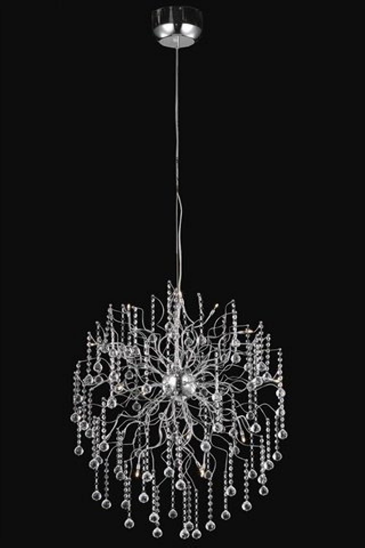 エレガントな照明Astroコレクション15-light Hanging器具withロイヤルカットクリスタル、クローム仕上げ