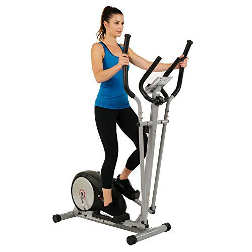 EFITMENT Magnetic Elliptical Machine Trainer w/LCD Monitor and Pulse Rate Grips - E006