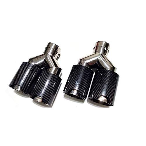 XHSM Exterior Silenciador De Cola De Tubo De Escape De Fibra De Carbono 2 Piezas para BMW Inlet 60mm 63mm Oulet 93 Tubos Dobles (Talla : Inlet 63mm)