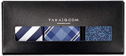 [タカキュー] ウォッシャブル ネクタイ 3本セット ギフトボックス付き ビジネス セレモニー タイ メンズ 02 日本 FREE (FREE サイズ)