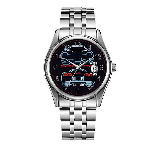 Luxus Herrenuhr 30m Wasserdicht Datum Uhr Männlich Sportuhren Männer Quarz Casual Weihnachten Armbanduhr Corvette Uhr