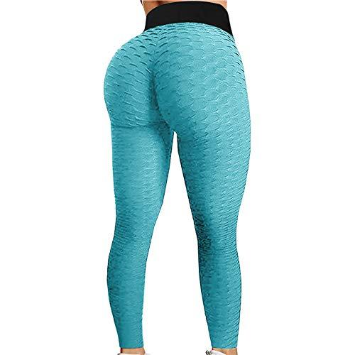 Liably Pantalones de yoga para mujer, talla grande, cintura alta, pantalones de deporte, moda informales, ajustados, para correr, ciclismo