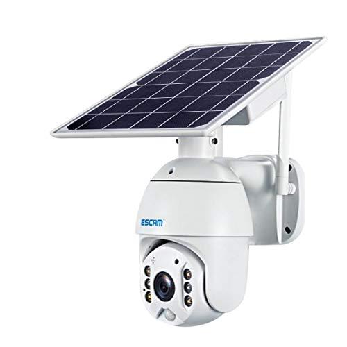 A+Xu Jie XJ QF480 EU Version HD 1080P IP66 impermeable 4G panel solar PT IP cámara sin batería, soporte visión nocturna, detección de movimiento, tarjeta TF, audio de dos vías (blanco)