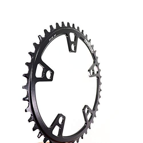 NGHSDO Platos para Bicicletas Caining Redondo 40 42 44t Tooth Road Bike Plato Ovalado 32 MTB (Color : 40t Black)