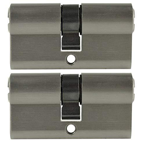 2 x Zylinderschloss gleichschließend 70 mm inkl. 5 Wendeschlüssel