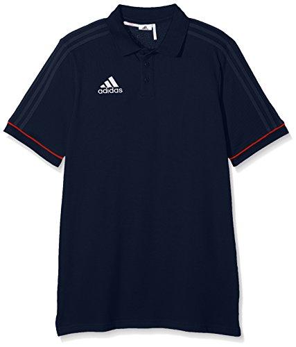 adidas Jungen Tiro 17 Cotton Poloshirt, Collegiate Navy/Energy/White, 152