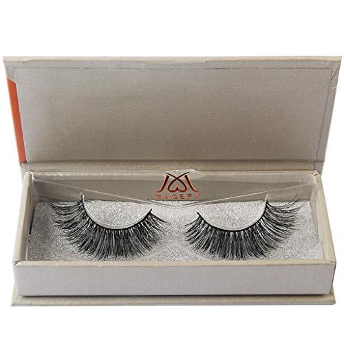 Damen Wimpern, SHOBDW 3D Natürliche Multi Layer Dickes Kreuz Auge Wimpern Falsche Wimpern (M03)