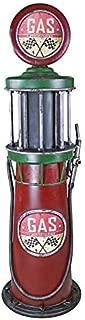Design Toscano Service Station Visible Gas Pump Metal Sculpture, Full Color