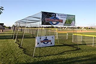 Wheelhouse 70' Batting Cage w/L-Screen and #21 Knotted Nylon Netting