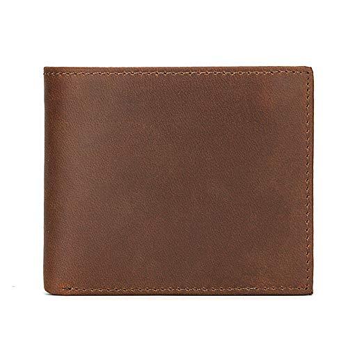 Portemonnee Geld Clip Polsband Koppeling Munt Pocket Portemonnee Zak Organisatoren Cash Credit Protector Leer Korte Retro Top Laag Lederen Coin Purse 1 Chocolade
