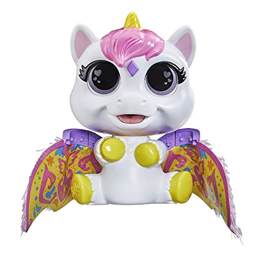 FurReal Airina The Unicorn Color-Change Interactive Feeding Toy  Lights and Sounds  Ages 4 and up