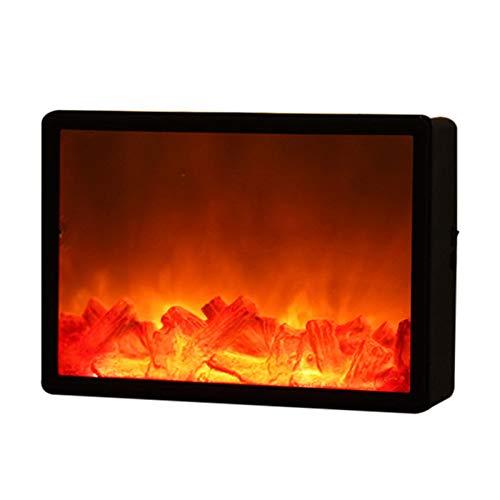 Guajave Elektrisches Feuer, Wandmontage, breiter elektrischer Kamin-Einsatz, LED-Simulationskamin Flammenlicht, nordischer Stil, Weihnachtsdekoration, Heimdekoration