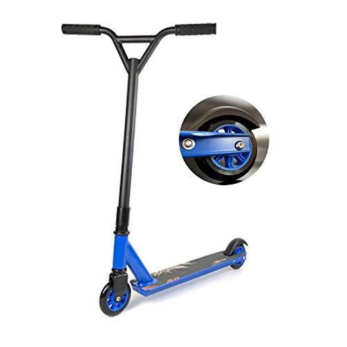 YANE Stunt Scooter para Niños De Dos Ruedas para Adolescentes Boy One Ped Scooter Carga para Adultos Alrededor De 200 Kg,Azul