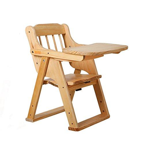 LJHA Tabouret pliable Enfants en bois massif tabouret/multifonctions bébé à manger chaises/bébé pliable (3 couleurs disponibles) chaise patchwork (Couleur : Varnish color)