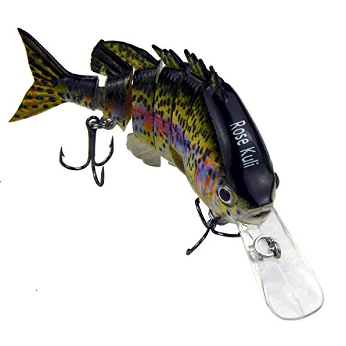 ROSE KULI Fishing Lures for Bass Life-Like Trout...