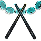 AEROBAND Bluetooth Drum Sticks, elektronisches Lufttrommelset mit Licht, drahtlose Verbindungstasche, 4 Modi Tragbare Drumsticks für Reisen...