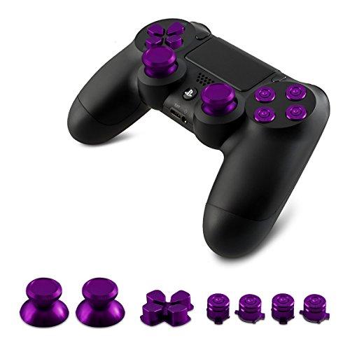 kwmobile 1x Teclas de repuesto compatible con Playstation 4 Dualshock en violeta
