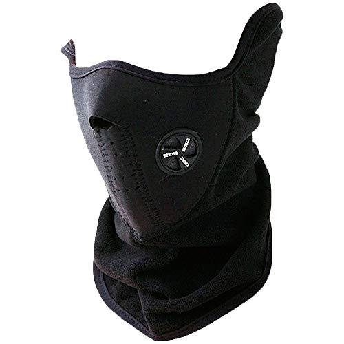 OcioDual Braga Térmica Máscara de Neopreno para Bicicleta Moto Esquí Cuello Forro Cara Snow Negra