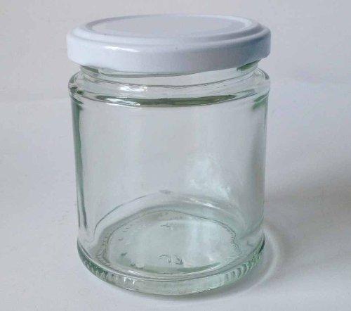 Nutley 's 190 ml ronde inmaakpotten, plus witte deksel (6 stuks)
