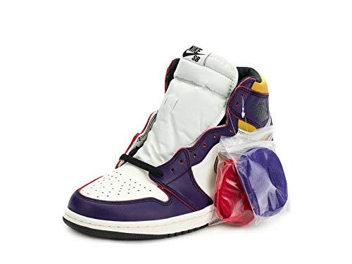Nike Mens Air Jordan 1 High OG Defiant Lakers Court Purple/Black Leather Size 12
