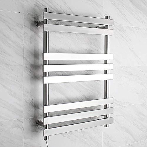 Muebles para el hogar Calentador de toallas Perchero eléctrico termostático para toallas Perchero eléctrico de acero inoxidable 304 montado en la pared de 8 polos para familias Hoteles Enchufes par