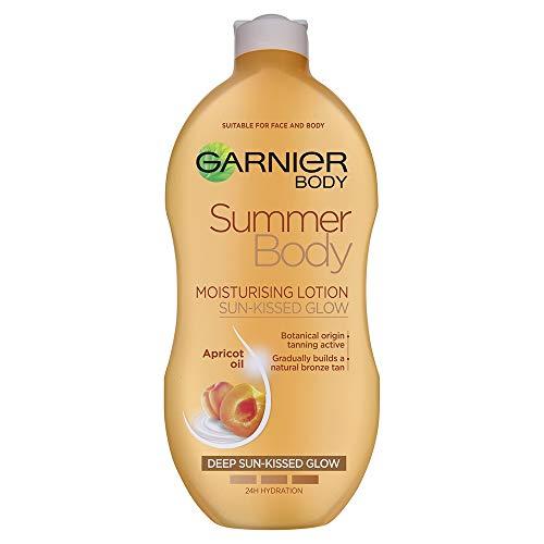 Garnier Summer Body Gradual Tan Moisturiser Deep 400 ml, For A Radiant, Sun Kissed Glow, Suitable For Face & Body, 24 Hour Hydration & A Natural Even Tan, Fast Absorption, Vegan Formula