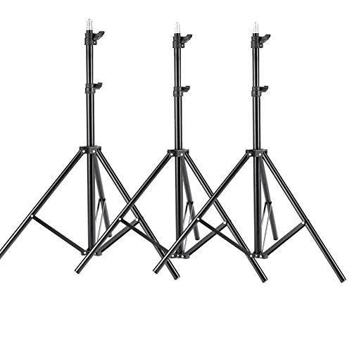 Neewer Soportes de Luz de 190 centímetros /75 pulgadas , Trípode Fotografía para Equipos de Estudio, Iluminación, Vídeo, Softbox y Reflectores (3 Unidades)