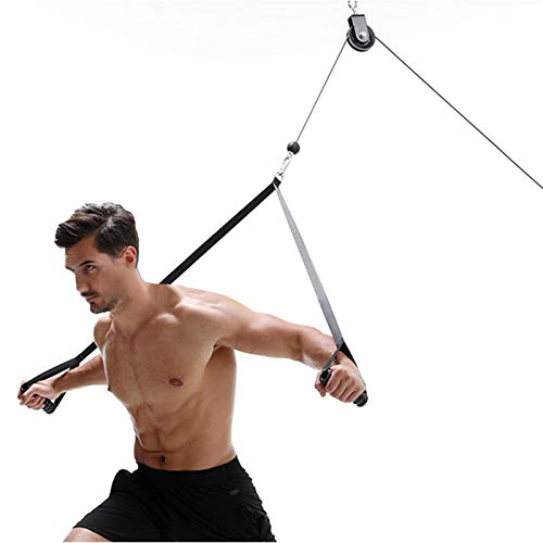 bozitian Cable de gimnasio de fitness, polea de bricolaje para gimnasio, cable de acero de poliuretano, cuerda de alambre de goma para entrenamiento muscular