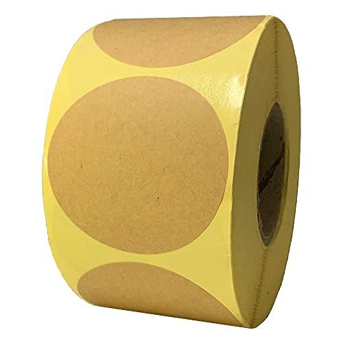 500 Piezas, 50mm Kraft Etiquetas Pegatinas Adhesivas Redondas Marrón