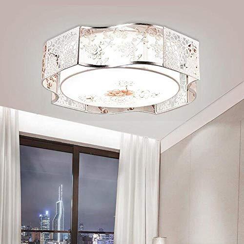 Moderne pastoral stijl slaapkamer plafondlamp eenvoudige romantische woonkamer creatieve ronde kinderkamer lamp dubbele lampenkap onregelmatige lijst bloem versiering vintage plafondverlichting