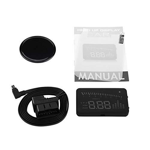 Auto HUD Display, Overhead Video OBDII Tacho Head Heads Up HUD Display Farb LED Projektor Geschwindigkeitswarnsystem für PKW