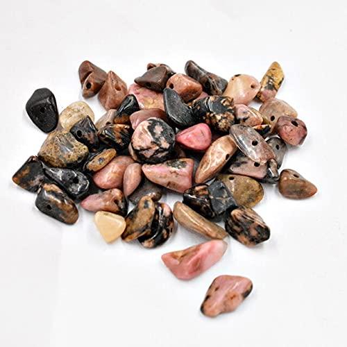 JIANGLAI Mezcla de cuentas de piedra natural Orite para hacer joyas irregulares agujero lateral DIY pulsera collar Strand