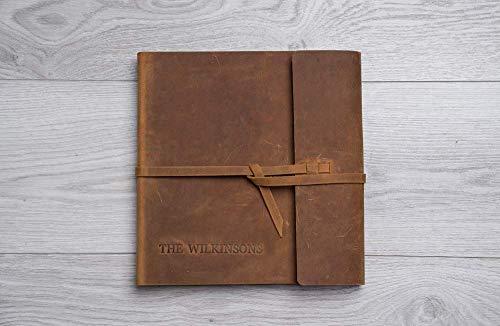 Gästebuch für Instax oder Polaroid Fotos, Gästebuch für Instax Fotografien, Echte Leder Fotoalbum für Polaroid Bilder, Hochzeitsalbum für Polaroid Filme, Rustikal Hochzeitsgästebuch