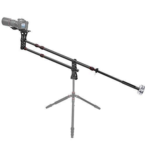 Neewer 177 Zentimeter Aluminiumlegierungs Jib Arm Kamera Kran mit 1/4 und 3/8-Zoll Schnellwechselplatte,, Gegengewicht für DSLR Video Kameras, Lastung bis zu 8 kg