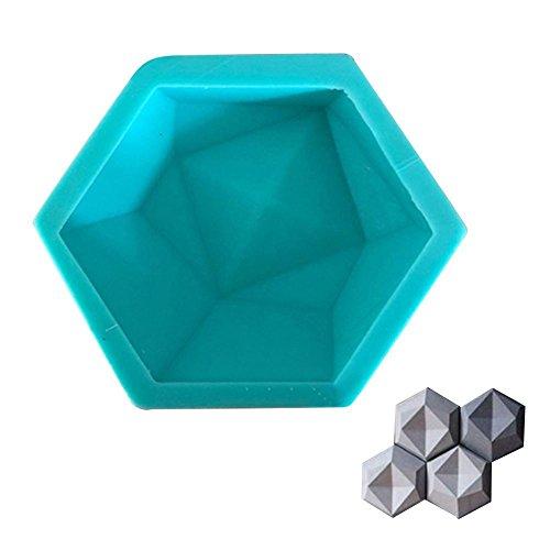 Favourall Hexagon siliconen vorm chocolade vormen om taart zeep puddies bonbons kaarsen gelei vlezige bloempotten aromatherapie stenen en andere handwerken te maken