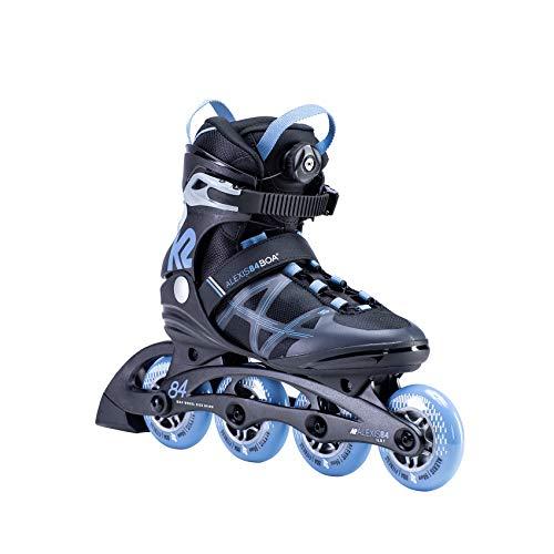K2 Inline Skates ALEXIS 84 BOA Für Damen Mit K2 Softboot, Black - Blue, 30E0190