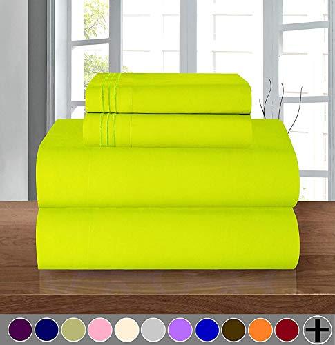 Elegance Linen 1500 Thread Count WRINKLE RESISTANT ULTRA SOFT LUXURY 4 pcs Bed Sheet Set, Deep Pocket Up to 16