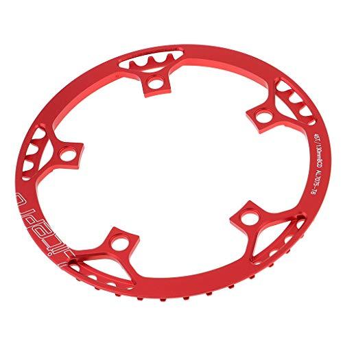 dailymall de Bicicleta de Una Velocidad 130BCD - 45T / 47T / 53T / 56T / 58T - Aluminio AL7075-T6 de Resistencia de Grado Aeroespacial - 4 Colores Disponi - Rojo 45T