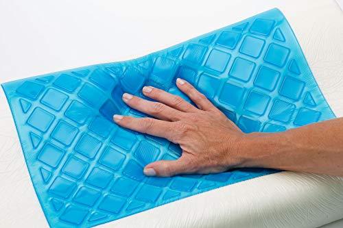 BEST DIRECT Cool Pillow Visto en TV Almohada Memory Foam Espuma viscoelástica con Gel Refrescante y Regenerador - Soporte para Cuello y Columna Vertebral Buen sueño Evita los Ronquidos