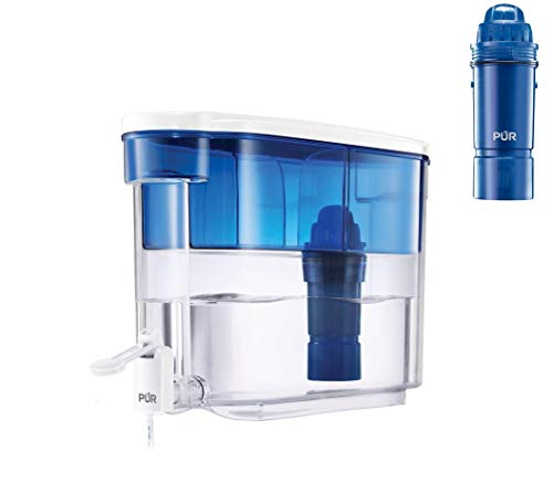 PUR Pitcher Water Filter, 18 Cup Dispenser with 3 Filters, 18 Cup Dispenser with 3 Filters
