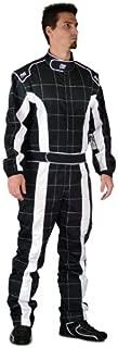 K1 Race Gear 20-TRI-NW-3XL Black/White XXX-Large Single Layer Triumph PROBAN Cotton SFI Rated Fire Suit