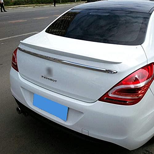 ZZKD ABS alas alerón Trasero para Peugeot 308 2012 2013 2014 2015 2016 2017 2018 2019, Tailpoiler estándar de la compuerta Trasera Spoiler de Techo Diablos Diablos del Labio del Tronco