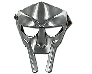 Halloween Medieval Gladiator Costume Mask 18g Re-Enactment Adult Custom Crafted Handmade Silver