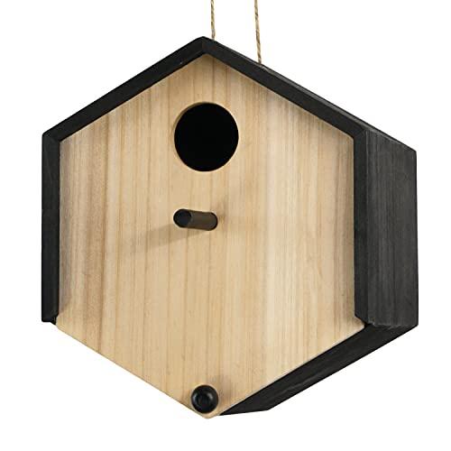bellissa Hochwertiges Vogelhaus, Vogelfutterspender, Vogelhäuschen für Vogelfutter – Futter-silo zum Aufhängen auch als Meißenknödel-Halter Nistkasten casa 21x18x18,5 cm