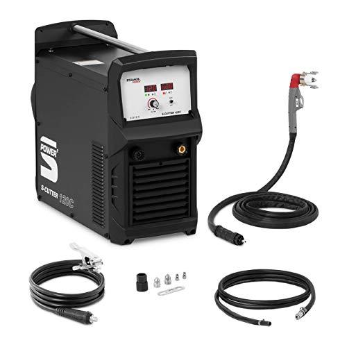 Stamos Power Cortadora de Plasma Máquina de Corte S-PLASMA 120C (Corriente de corte: 120 A, Profundidad de corte: 45 mm, 400 V)