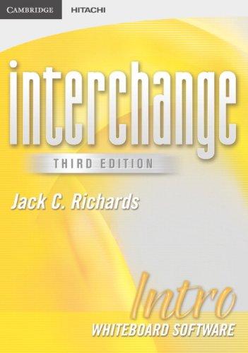 Interchange Intro Whiteboard Software (Interchange Third Edition)