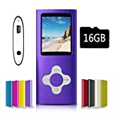 G.G.Martinsen Purple&White Versatile MP3/MP4 Player with a Micro SD Card, Support Photo Viewer, Mini USB Port 1.8 LCD, Digital MP3 Player, MP4 Player, Video/Media/Music Player