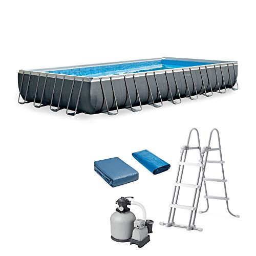 Intex Ultra XTR Rectangular Frame Pool Set with Sand Filter/Pump and Ladder